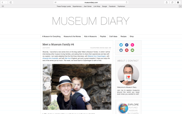 An interview about kids and families and museums  both in Copenhagen and while traveling.