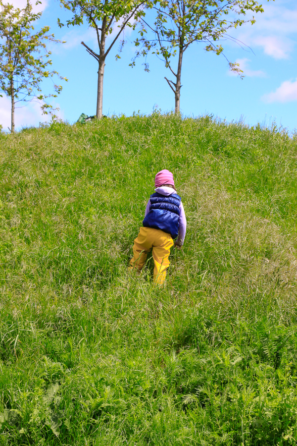 An awesome children's playground in Valby, outside of Copenhagen,  Denmark visited by this forest school toddler.