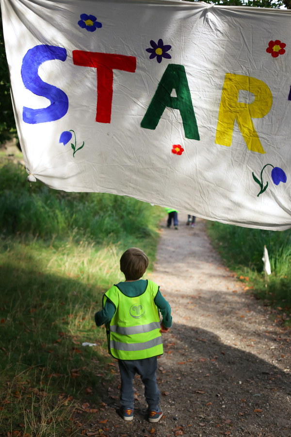 Toddlers in forest school get outside with their education and invite parents to join in on for Field Day in Denmark.