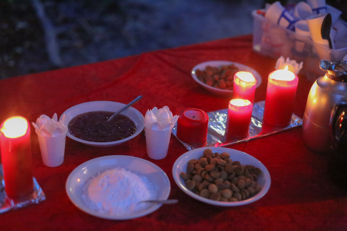 The forest school celebrates the Christmast holidays with plenty of nature and hygge.