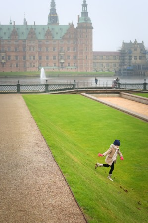 Visiting the Frederiksborg Castle in Hillerod, Denmark, home to the one of the Museum's of National History.