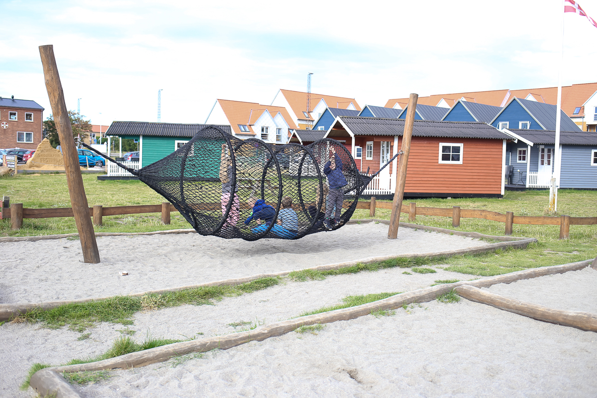 A natural, inspired playground in Hundested Harbor on the Danish Riviera.  Play spaces in Denmark always seem to bring together the perfect intersection between nature and play for toddlers and children.