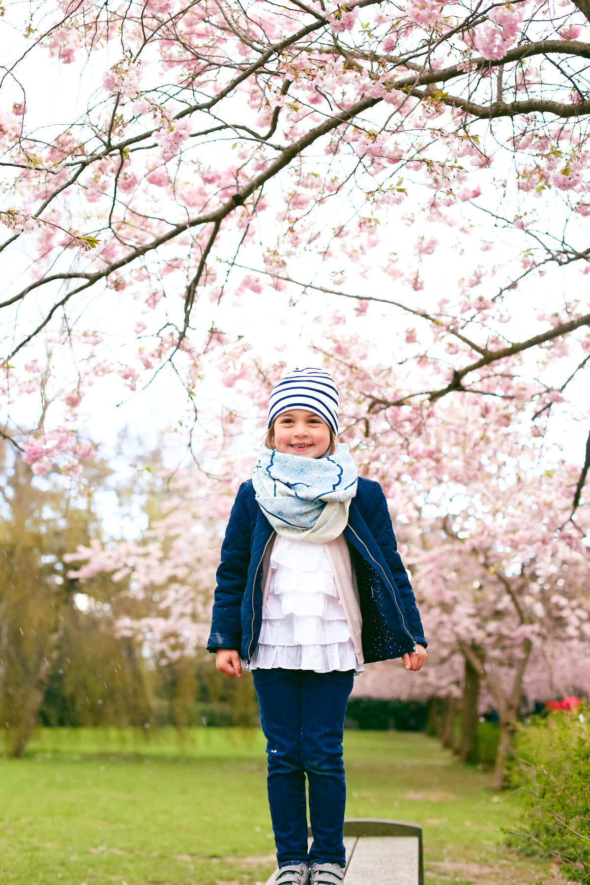 A little break for this forest school tot to check out Copenhagen's best cherry blossoms at the Bispebjerg Cemetery.