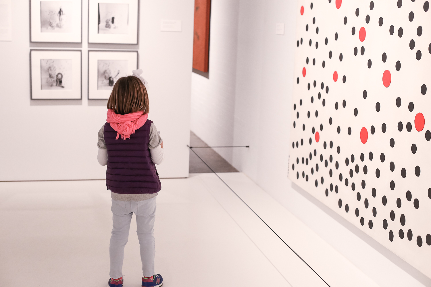 Tips and tricks for visiting the Yayoi Kusama exhibit with children at the Hirshhorn Museum in Washington, DC.