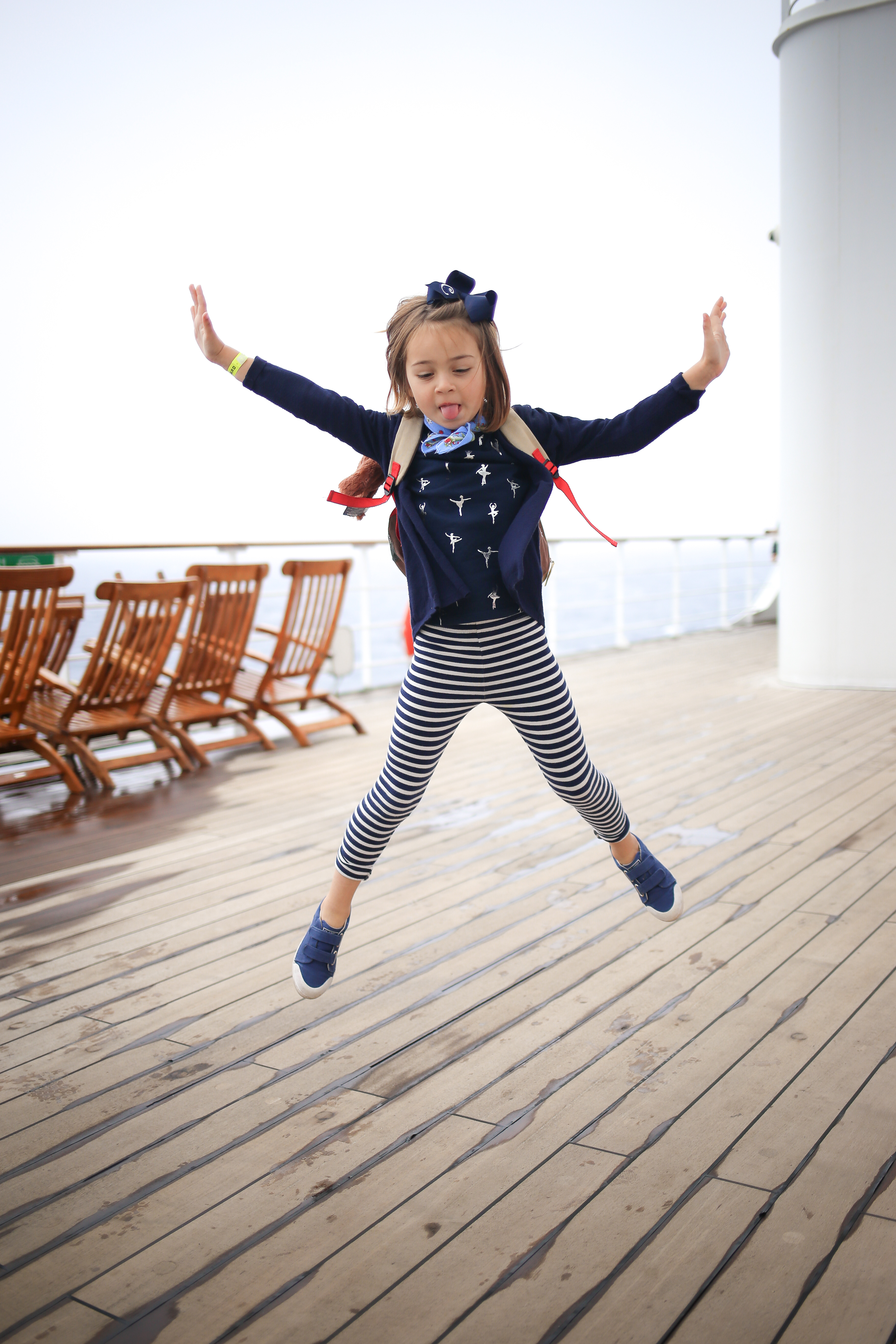 Children and adventures aboard the Queen Mary 2.