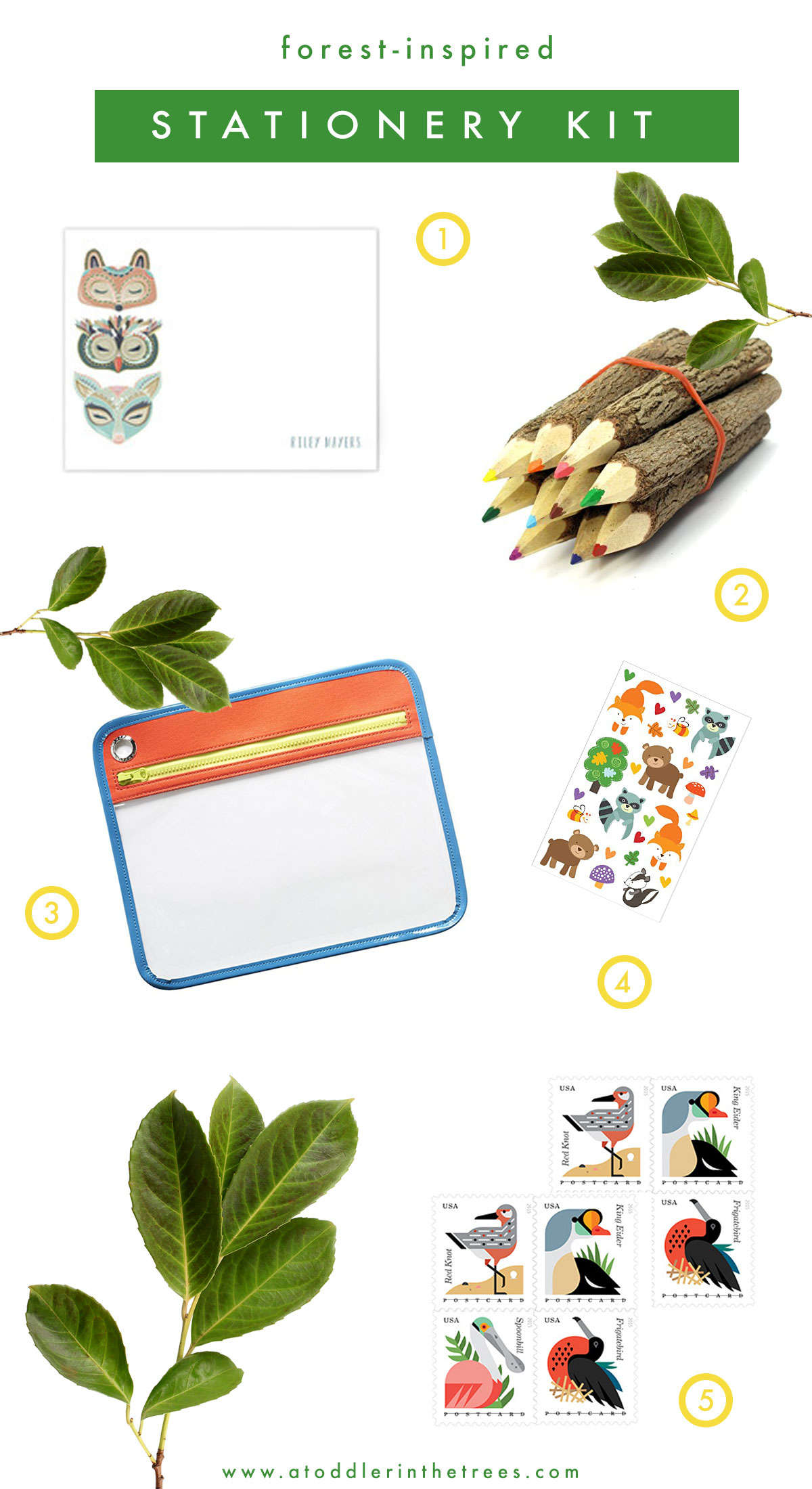 Forest-Inspired-Stationery-Kit
