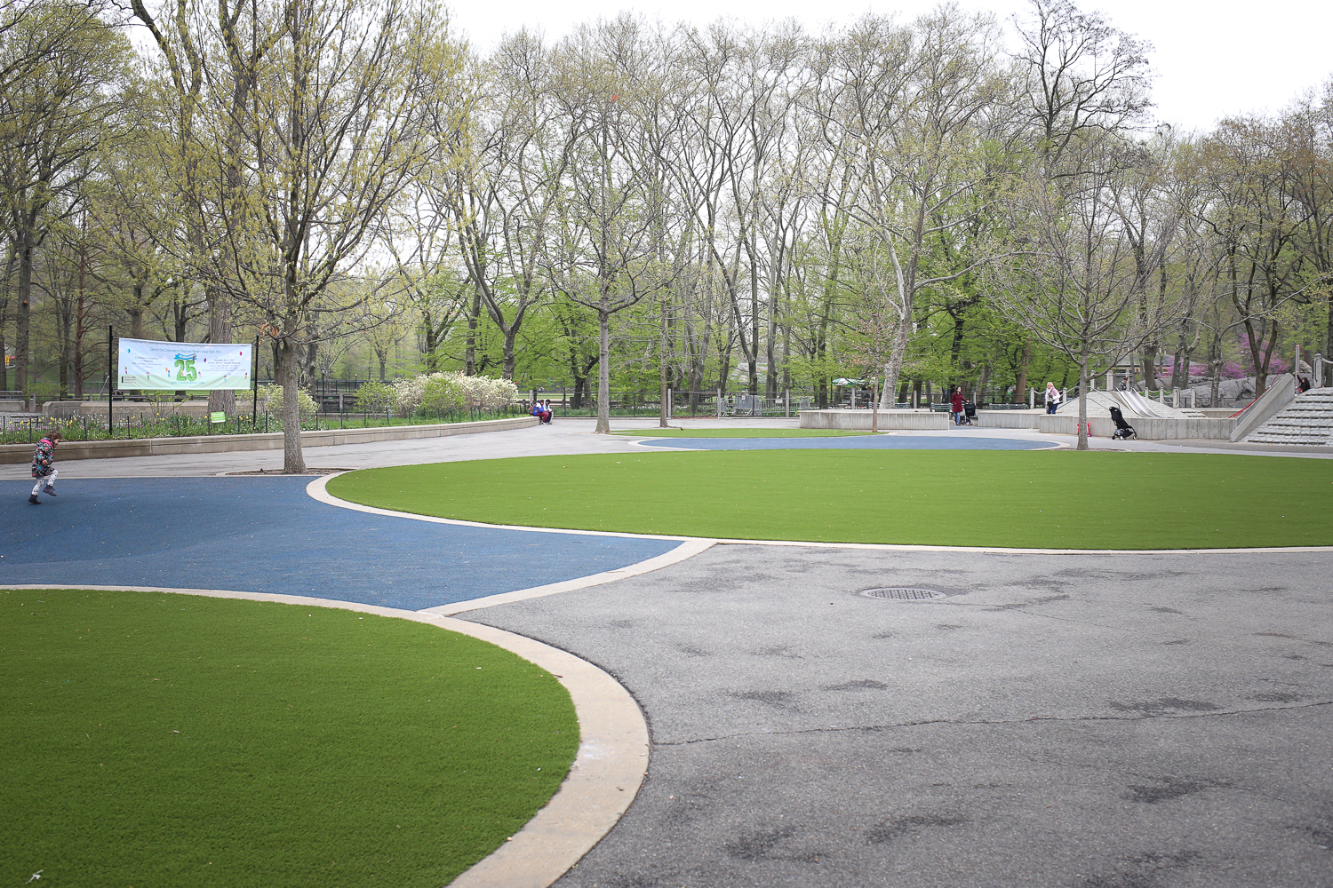 Play space and green space in the middle of New York City's Central Park!